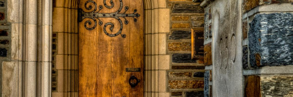 community photo of doors and bricks at Duke