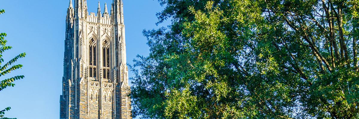 Photo of Duke Chapel in Sunlight