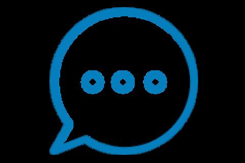 Image of speech bubble icon